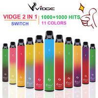 Doppio colori Dispositivo monouso di alta qualità VAPE PEN Vidge 2 in 1 Spedizione Velocemente grandi colori in magazzino
