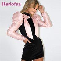 Karlofea Weibliche Winter Best Tägliche Outfits Kleid Chic Patchwork Puff Sleeve Minikleid Elegante Samt Celebrity Party Vestidos 201204