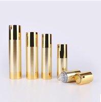 에멀젼 혈청 기반 안티 UV 햇빛이 피부 관리 화장품 포장 30ML UV 골드 에어리스 진공 펌프 로션 병