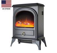 США STOCK Valuxhome 750 / 1500W 22 дюймов Электрическая плита, портативные электрический камин Подогреватель с реалистическим пламенем D14703430