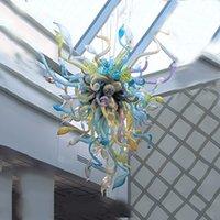 Лампы Современные Люстры Освещения Итальянские Рука взорванные Искусственные Потолочные Света Светодиодные Света Источник Стекло Подвесное освещение