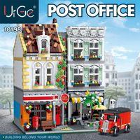 10198 City City Street View Series Tijolo Quadrado Post Office Blocks Brinquedos 2986 PCS Tijolos