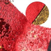 130x50см обратимый русалка рыбная шкала блестки ткань блестящая пайетка ткань для платья бикини одежда подушки подушки DIY украшения1