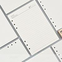 Diario Agenda Plannner Notebook A5 A6 Inserire Ricarica 6 fori Allentati a spirale ANELL BINDER Diario Diario Planner interno Core 100G Paper1