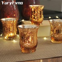 حاملي الشموع Yuryfnfna كريستال حامل الزجاج رائحة الزئبق حفل زفاف el مقهى بار الديكور المنزل
