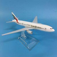 Jason Tutu Airplane Emirates Boeing B777 Aeronaves Diecast Metal 1: 400 16 cm Aviões Modelo Toy Toy Gif Y200428