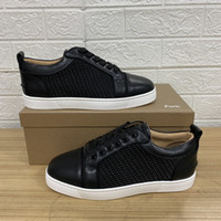 Moda Designer Mens Mulheres Sapatos Vermelho Bottoms Couro Real 50% offffff confortável Casual Moda Branco Paris Ace Luxurys Flat Sneakers 35-47