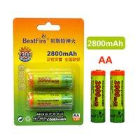 Battery Battery Ni-MH 1.2V 1100 / 2800mAh بطارية AA القابلة لإعادة الشحن AA 2PCS لكل مجموعة للعب الكاميرا الرقمية التحكم عن بعد mp3 / mp4 الحلاقة الكهربائية
