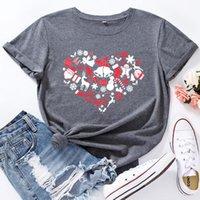 المرأة t-shirt امرأة بلايز زائد حجم عيد ميلاد سعيد بيل طباعة عارضة س الرقبة قصيرة الأكمام الصيف تيز القطن الجرافيك فضفاض قمم سيدة