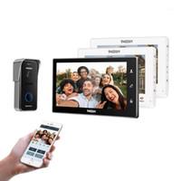 Système d'interphone d'interphone Vidéo Smart IP Smart IP de Tmezon / WiFi, moniteur d'écran de 10 pouces + 7 pouces avec caméra de téléphone portable filaire 1x720P1