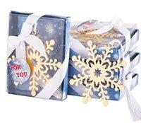 Nieuwe Creatieve Sneeuwvlok Bladwijzer Promotie Gift Party Party Small Gift Trouwretch Gift