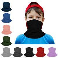 Sihirli Eşarp Maske Yüz toz geçirmez Çocuklar Bisiklet Maskeler Bandana Kafa Hairband Turban Buz İpek Bisiklet Maskeleri CYZ2896 Caps