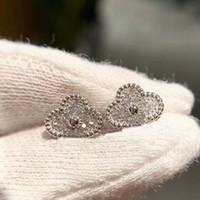 Luxuriöse Qualität S925 Stud Mini-Ohrring mit funkelndem Diamant für Frauen Hochzeit Schmuck Geschenk Freies Verschiffen PS3407