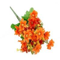 Flores decorativas grinaldas 2 cachos simulação casa fake margarida casamento festival artificial flor artesanato desktop seda diy bouquet gi