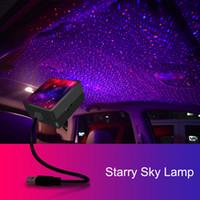 NOUVEAU Noël USB Car lampes Intérieur toit Atmosphere Starry Sky Lampe LED de commande vocale Projecteur étoile toit Night Light Auto Décor