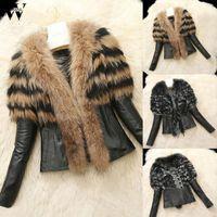 Abrigo de chaqueta de mujer de uola de uola de uola de invierno Chaqueta de cuero cálido Faux cuero abrigo motocicleta femenino streetwear abrigo