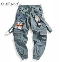 CHAIFENKO Nueva caliente del basculador de los deportes del ocio Pantalones de los hombres de Hip Hop de Streetwear haz Pie de Carga Pantalones impresión de la manera de los hombres pantalones 201006