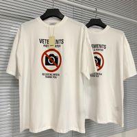 21ss Avrupa Fransa Vetements Shop Hiçbir Sosyal Medya Antisosyal Nakış Tişört Moda Erkek T Shirt Kadın Giysileri Rahat Pamuk Tee