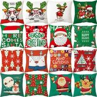 Weihnachtskissenbezug Leinen Druck Kissenbezug Kissen Geschenk