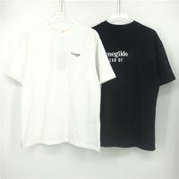 2020 Europa Hip Hop Cool Italia FG Colaborar Classic Letra Imprimir T Shirt Monopatín Cool Tshirt Hombres Mujeres Algodón Camiseta de manga corta