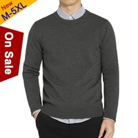 MuLS 2020 Bahar Triko Erkekler Pollovers Pamuklu Örme Kazak Jumper Mürettebat-Boyun Triko Jersey Gömlek Erkekler Artı boyutu 4XL 5XL