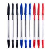 Bolígrafo de plástico barato 16 cm 100pcs Lot Negro Azul Tinta roja barata Oficina de la oficina de la oficina de Wok con el clip de CAP Wholesale Ship gratis 033