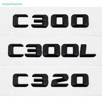 C300 C300L C320 رسالة رقم ABS الفضة الكروم شعار شارة سيارة ملصقا الملحقات ل مرسيدس بنز 190e W201 W202 W203 W204