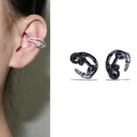 Fashion Minimalist Crystal Ear Cuff Circle Cross Clip Earrin...