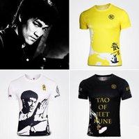 الصينية kungfu بروس تي شيرت بأكمام قصيرة الصيف جيت كيون الرياضية t-shirt kungfu قميص الملابس 1