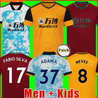 20 21 الذئاب Soccer Jersey Neves Raul 2020 2021 Adama Fábio Silva Podence Neves Soccer Shirt Otto Football Shirt الرجال + أطفال مجموعة موحدة