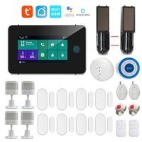 WiFi GSM Tuya SmartLife App Интеллектуальная Домашняя бураторная сигнализация 4.3-дюймовая сенсорная панель Поддержка Google Home Amazon Alexa