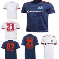 2020 2021 هامبورجر SV لكرة القدم الفانيلة المنزل الأبيض بعيدا الأزرق 20 21 hsv männer كيندر زي الرجال قمصان كرة القدم