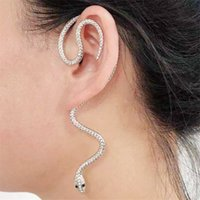 Schlangenohrhaken Retro Punk Rock Lange Schlangenohrringe Schlangenförmige Ohrenschützer Ohrringe für Frauen und Männer ohne durchbohrte Ohrclips