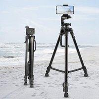 삼각대 카메라 삼각대 55 인치 / 140cm 가벼운 라이브 스트리밍 전화 홀더 및 가방 최대로드 3kg1