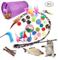 28 шт. / Комплект игрушки кошка ассорти туннель кошка перо тизер интерактивные пушистые мыши морщины шарики для кошек щенок котенок котенок JK2012PH