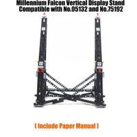 Schwarzes Moc-Millennium-Spielzeug Falcon-vertikaler Display-Standkompatibel mit der Nr.05132 und Nr.75192 ultimatives Sammlermodell C1114