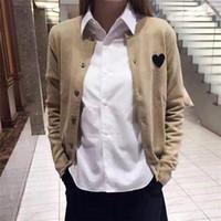 Erkekler Kadınlar Tasarımcı Hırka Kalp Gözler Örgü Hırka Çok Renkler Çift Ceketler Tek Göğüslü Ince Uzun Kollu Hırka Bahar Sonbahar1