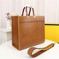 Wholesale designer de luxe sac à main sac à bandoulière de haute qualité Shopping Sac Matériau en cuir Ambre Double poignée de grande capacité Épaule