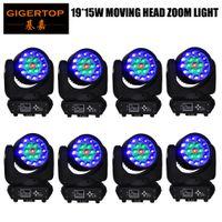 Kafa Açık Kırmızı Yeşil Mavi Beyaz LED DJ Hareketli Çin Tedarikçi 8 Paketi Almanya 19x15W RGBW Yakınlaştırma