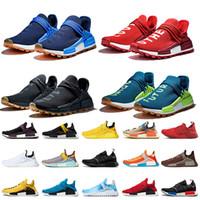Pharrell Williams x Adidas NMD Human Race 2020 NMD R1 V2 El tamaño grande 12 mujeres para hombre de los zapatos corrientes de NMD R1 V2 Rojo Azul Negro Ahora Es Su Tiempo