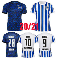 2020 2021 Hertha Soccer Technys BSC 20 21 Tousart Dilrosun Cunha Lukebakio Piatek Home Away Футбольная рубашка S-2XL