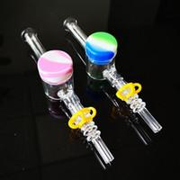 Unico Glass Nector Collector mini kit NC con 10 millimetri 14 millimetri maschio Consigli quarzo Keck clip in silicone Contenitore per Tubi Oil Rigs Dab paglia NC17