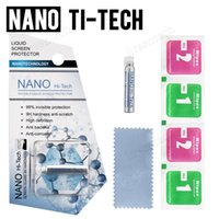 1ML Sıvı Nano Teknoloji Cam Ekran Koruyucu 3D Kavisli Kenar Karşıtı Çizilmeye Temperli Film iPhone X 7 8 Artı Samsung S8 Artı