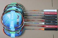 2 stücke Professionelle Badmintonschläger 28 Pouds Carbon. Trainingsreservat Badminton Racquet