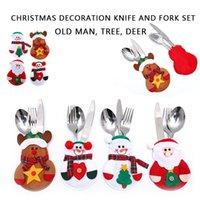 لوازم عيد الميلاد الديكور الجدول الديكور سانتا كلوز عيد الميلاد ثلج غطاء الملابس قبعة السراويل سكين شوكة عيد الميلاد ZJ00365