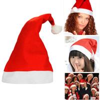 크리스마스 산타 클로스 모자 빨간색과 흰색 모자 파티 모자 산타 클로스 의상 어린이를위한 크리스마스 장식 성인 크리스마스 모자