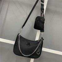 حقائب الكتف حقيبة فاخرة أكسفورد القماش المرأة الأزياء تنوع الإبط حقيبة p رسالة مع الرجعية الزلابية الهلال حقيبة