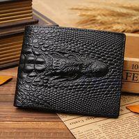 THINKTHENDO Fake Crocodile Gator Mens Leather Wallet Pockets ID Credit Card Clutch Bifold Drop Shipping Good Quality