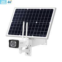 USVision 2MP solar 4g câmera sem fio exterior desligado sistema solar 30 w painel solar ip67 impermeável com auto rastreamento de duas vias câmera de áudio