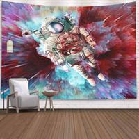 رائد فضاء نسيج الجدار شنقا trippy الجدار نسيج الكون القماش الجدار قماش السجاد رقيقة السرير غطاء 1